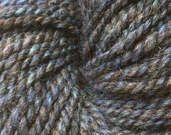 Faking Sanity Handspun BFL/Shetland/Manx Loaghtan Wool: Bay Blue colourway
