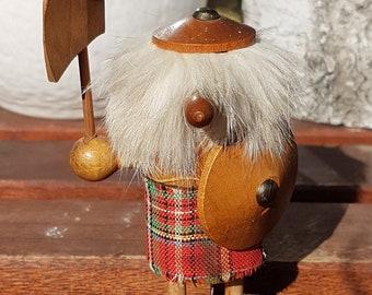 Vintage Teak Wood Viking Gonk Figure by Daysun