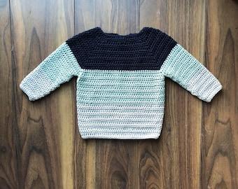Light Weight Sweater - Crochet Jumper - Kids Summer Clothes
