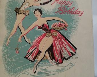 Vintage 1954 Casa Carioca Ice Revue Happy Birthday Souvenir Book