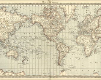 Poster, Many Sizes Available; World Map 1881