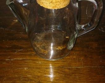 antique westmoreland princess glass syrup honey pitcher