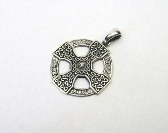 Celtic pendant silver 925 skull Celtic cross silver pendant pendant