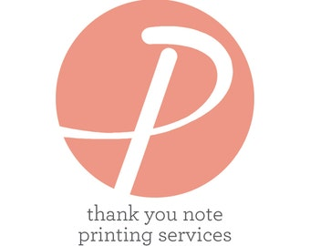 Thank You Note Printing Services