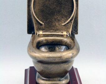 Toilet Trophy with 3 lines of custom text
