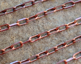 Small Delicate Cable Chain 3x1.5mm Antique Copper