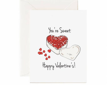 """Candy Hearts """"You're Sweet Happy Valentine's!"""" Greeting Card"""