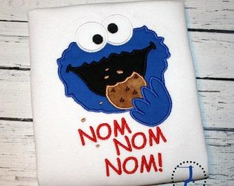 Cookie Monster Shirt - Cookie Monster Birthday, Cookie Monster Party, Sesame Street Birthday, Sesame Street Shirt, Sesame Street Dress, M2M