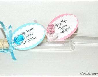 Test tubes as Guest gifts baptism Birth (5 pcs)