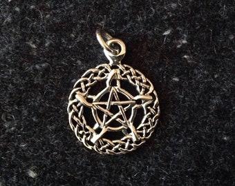 Pentacle Pendant Sterling 925 Celtic Pentagram