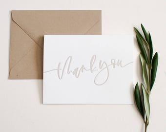 Bulk Thank You Cards + Envelopes, sets of 25