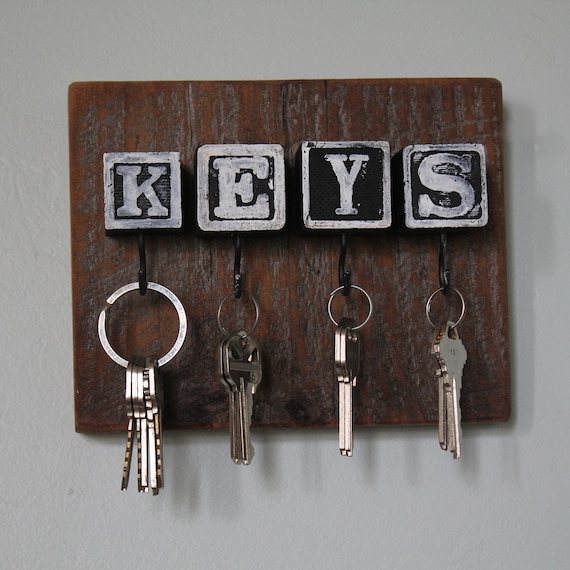 Black Block Barn Lumber Key Rack