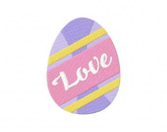 Easter Egg Love Machine Embroidery Design