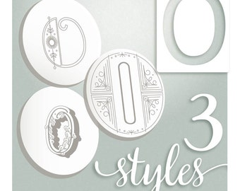 Modern Monograms Letter O hand embroidery patterns in three styles Alphabet Letter embroidery designs by SeptemberHouse