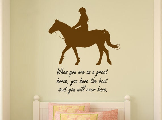 Horse Decal Horse Rider Wall Words Quote Word Art Teen Girl - Wall decals quotes for teenagers