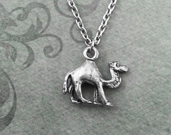 Camel Necklace VERY SMALL Camel Jewelry Silver Camel Pendant Necklace Camel Charm Necklace Bridesmaid Necklace Camel Gift Desert Jewelry