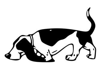DIY Basset Hound Dog Vinyl Decal, Basset Hound Lovers, Laptop decal, iPhone decal, Tablet Decal, Car Window Decal, Wall Decal