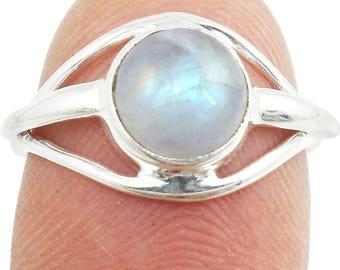 Rainbow Moonstone Ring, Rainbow Ring, Silver Moonstone , Sterling Silver Ring Size - US 3,4,5, 6, 7, 8,9,10,11,12,13,14,15,16