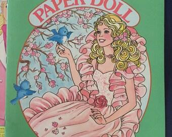 1985 BARBIE paper dolls book peaches 'n cream near mint