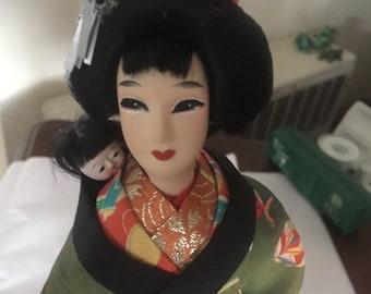 Japanese Kimori Doll (babysitter) vintage 1950's