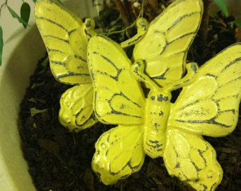 Cast Iron Wall Decor, Butterfly - Set of 2