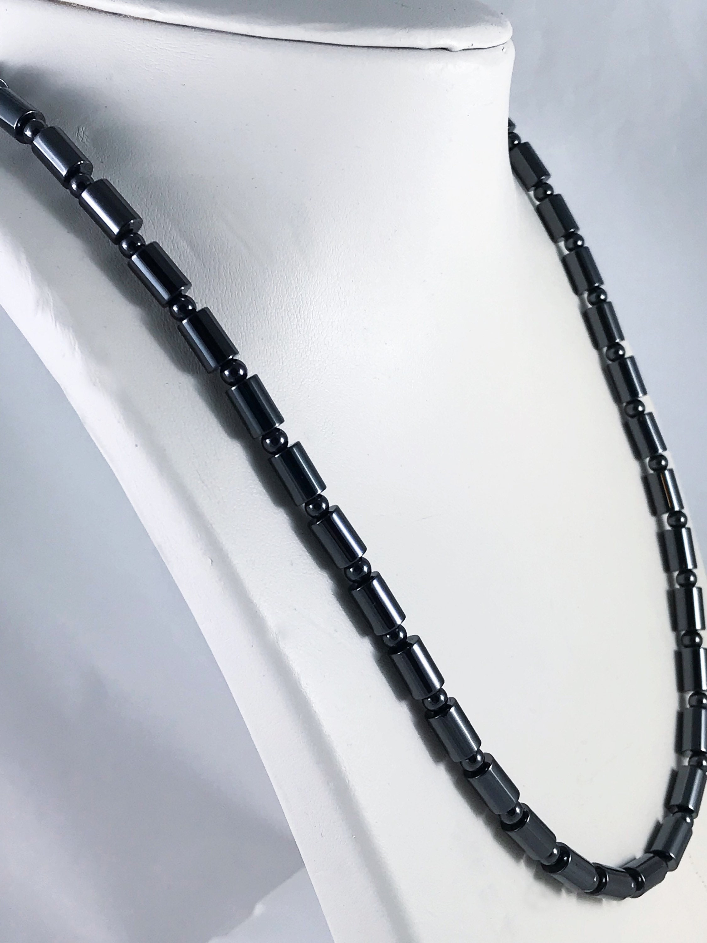 magnetic men il s cylinder hematite beads necklace listing smooth jewelry women jewellery photo fullxfull gallery
