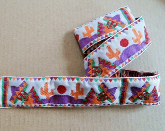 """Stripe 11 G - """"Mexican"""" woven Ribbon in four colors"""