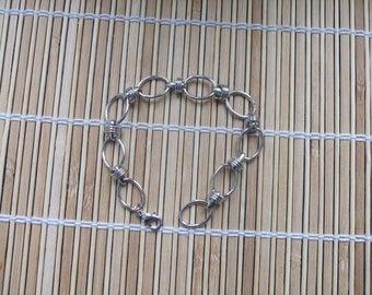 Bracelet 23 cm silver color metal