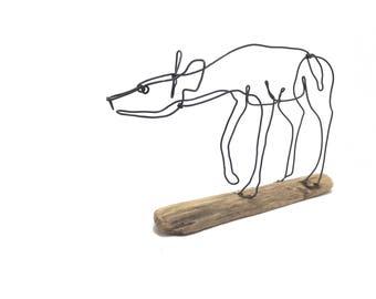 Doe Wire Sculpture, Deer Wire Sculpture, Doe Wildlife Wire Sculpture, Minimal Wire Sculpture, Deer Art, 565378588