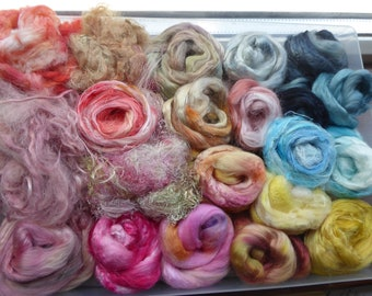 Hope Jacare - Hand dyed speciality fibre pack -  approx 120g mixed plant/speciality fibres - PLF63