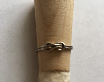 Sterling Square Knot Ring Size 6 1/2