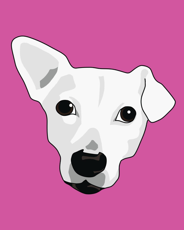 Retrato caricatura del perro / aduana ilustración de mascotas