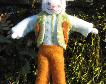 Mr. Rabbit Art Doll Ornament OOAK