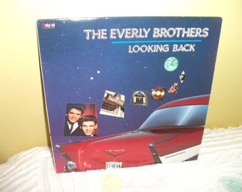 Everly Brothers Looking Back Vinyl Record Album NEAR MINT condition