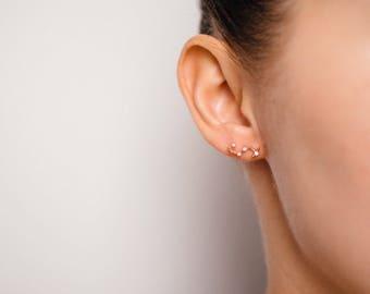Scorpio Oct 23. - Nov 21. Zodiac Earrings SILVER  / ROSEGOLD plated Star Constellation