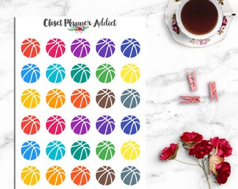 Basketball Planner Stickers | Basketball Stickers | Sports Stickers | Appointment Reminder (I-064)