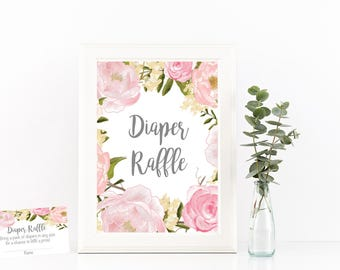 Diaper raffle, Diaper raffle game, diaper raffle cards, diaper raffle sign, baby shower gift, diaper raffle ticket, diaper raffle inserts,