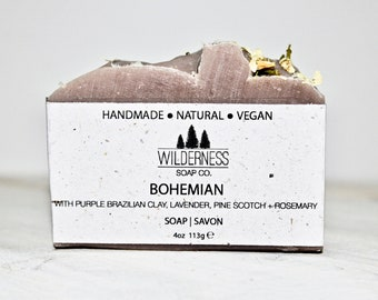 Bohemian Soap, Natural Soap, Vegan Soap, Palm Free Soap, Handmade Soap, Cold Process Soap