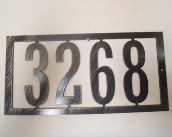 Metal House Number, Address Sign, Any Numbers