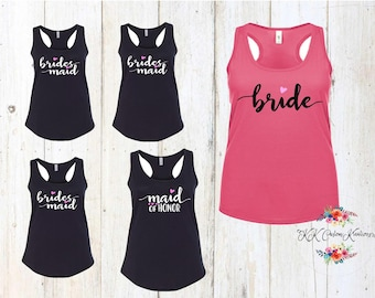 Bride Tank Tops - Bridal shower - Bride squad - Brides Squad Tanks  - Bachelorette Party Tank Tops - Wedding Shirt - Wedding Party