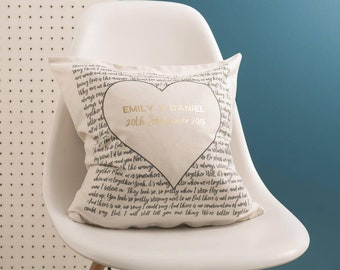 Couple's 'Special Song' Black And Gold Cushion Pillow