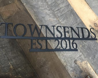 Custom Metal Sign - Established sign