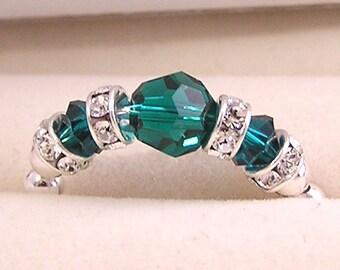 Birthstone ring - sterlig silver