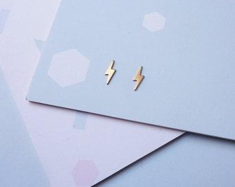 Lightning Bolt Studs - Lightning Earrings - Delicate Earrings - Gifts For Her - Stud Earrings - Small Earrings - Lightning Studs