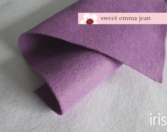 Wool Felt 1 yard cut - Iris - light purple wool blend felt
