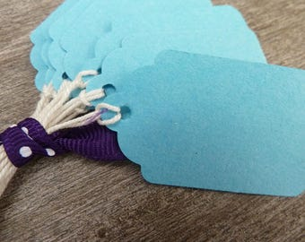 Blue medium 40 labels and cotton Twine
