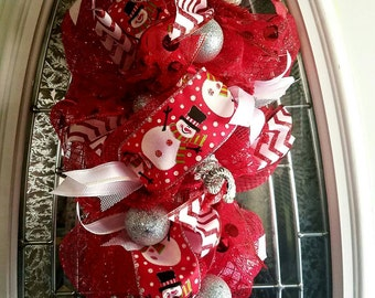 Red Christmas swag wreath