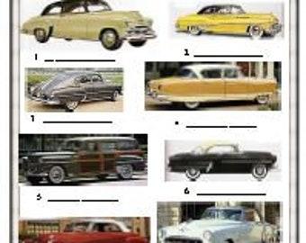 50's Car Trivia