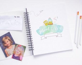 School Years Memory Book. Back to School. School Years Scrapbook. School Album. School Journal. Preschool through 12th Grade Book