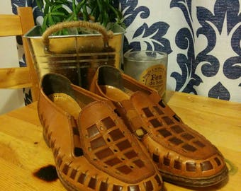 Vintage flats real leather size 5 US